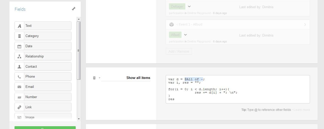 Modify template in Podio